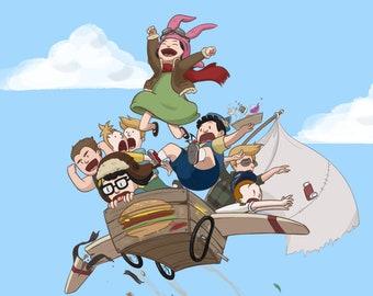 "Bob's Burgers Fan Art ""Flight!"""