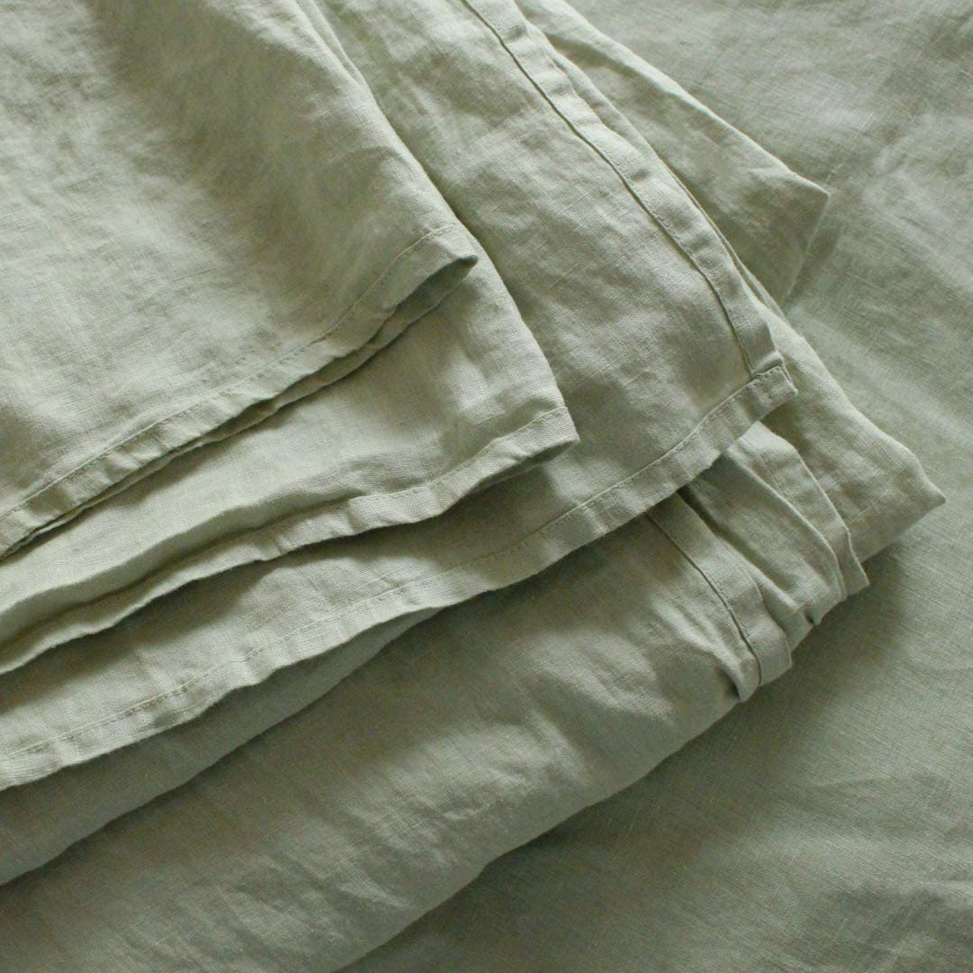 100% French Natural Linen Bedding Ultra Soft Stone Washed 4-Piece Sheet Set