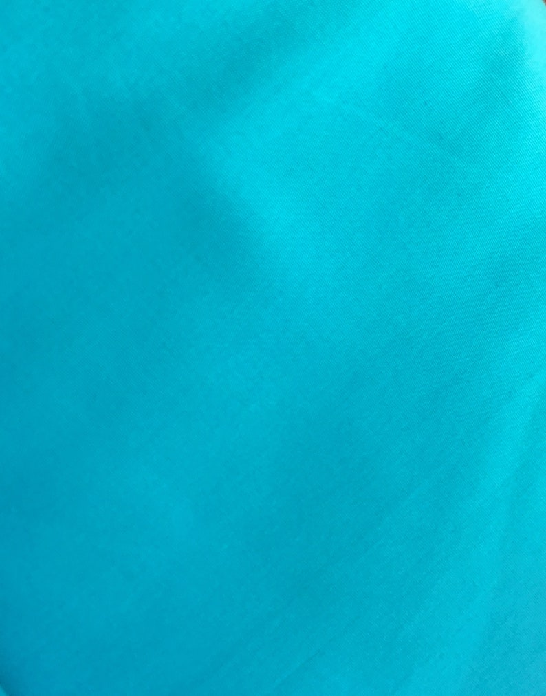 Cotton fabric weaving 0.5 m light turquoise 130 g/m2 140 image 0