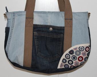 Bag of jeans, shoulder bag, upcycling