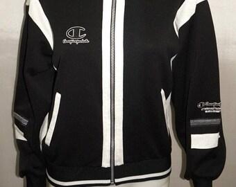 4899431decfc Vintage 90s CHAMPION Black track top Jacket