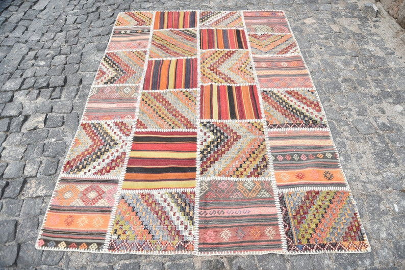 Teppiche2903 5 \'x Salon 9\' Braun Moderne 7 TeppichVintage Oushak 3 ...
