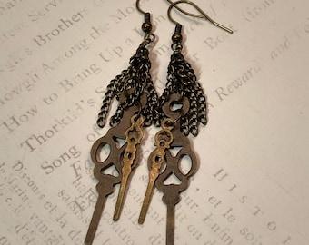 Steampunk Jewelry, Clockwork Earrings