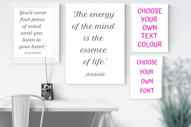 10 x Mind Quotes 80 Printables Available CHOOSE YOUR OWN image 0