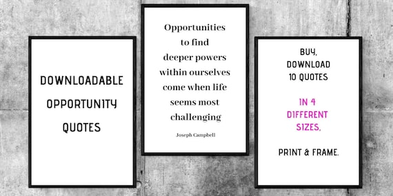 x opportunity quotes printables choose your own colour