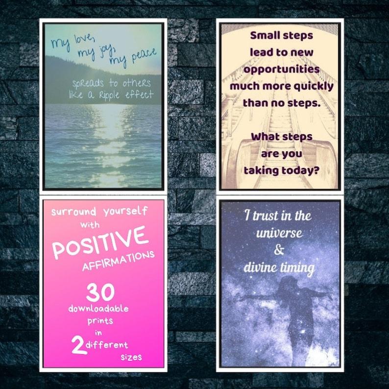 30 Positive Affirmations Downloadable Prints Wedding image 0