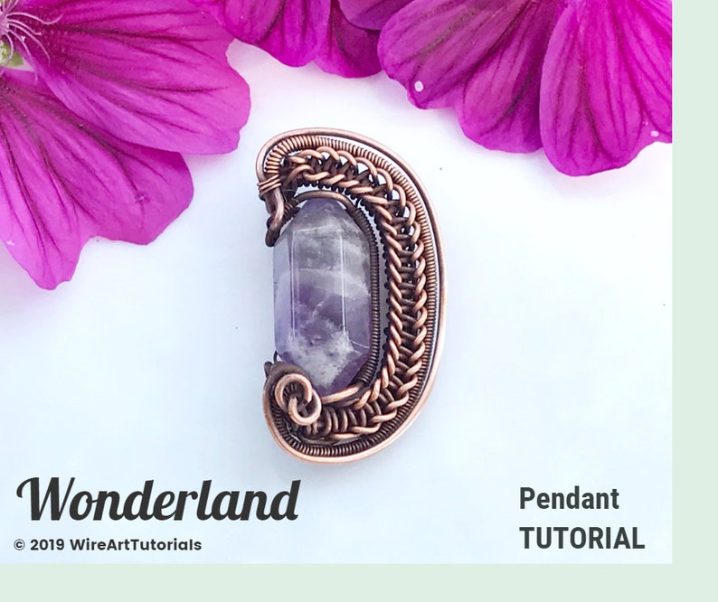 diy materials wrapping weaving jewelry making pattern FULL KIT Wonderland pendant,Marvelous rings,wire wrap tutorial PDF file
