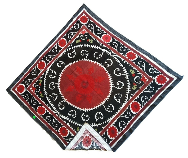 Uzbek Antique Wall Hanging Gift Vintage Hand Embroidery Suzani SALE WAS 349.00