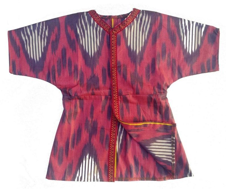 Girls Silk Adras Beautiful Handmade Multicolor Uzbek Robe Dress SALE WAS 149.00