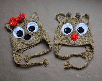 Rudolph and Clarice Inspired Hat 02f8f7635085