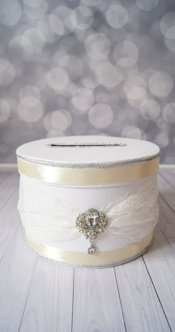 White Ivory Wedding Money Box Envelope Box Wedding Card Holder Etsy