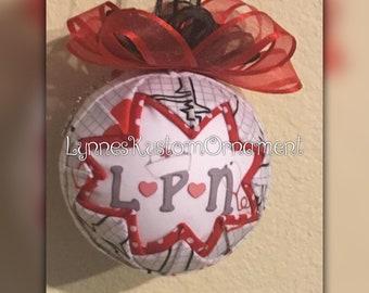 Nurse Custom quilted ornament