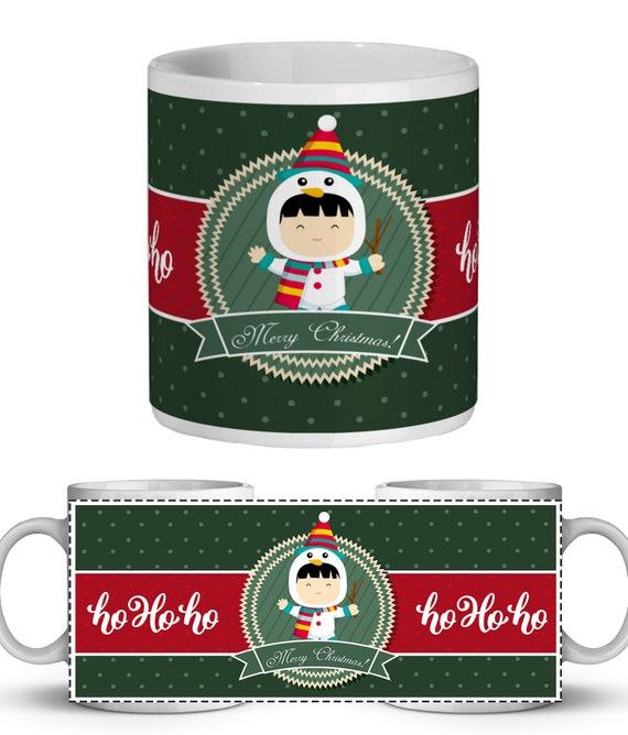 digital printable mug design child sublimation mug template snow sublimation mug print Editable photo mug design christmas mug overlay