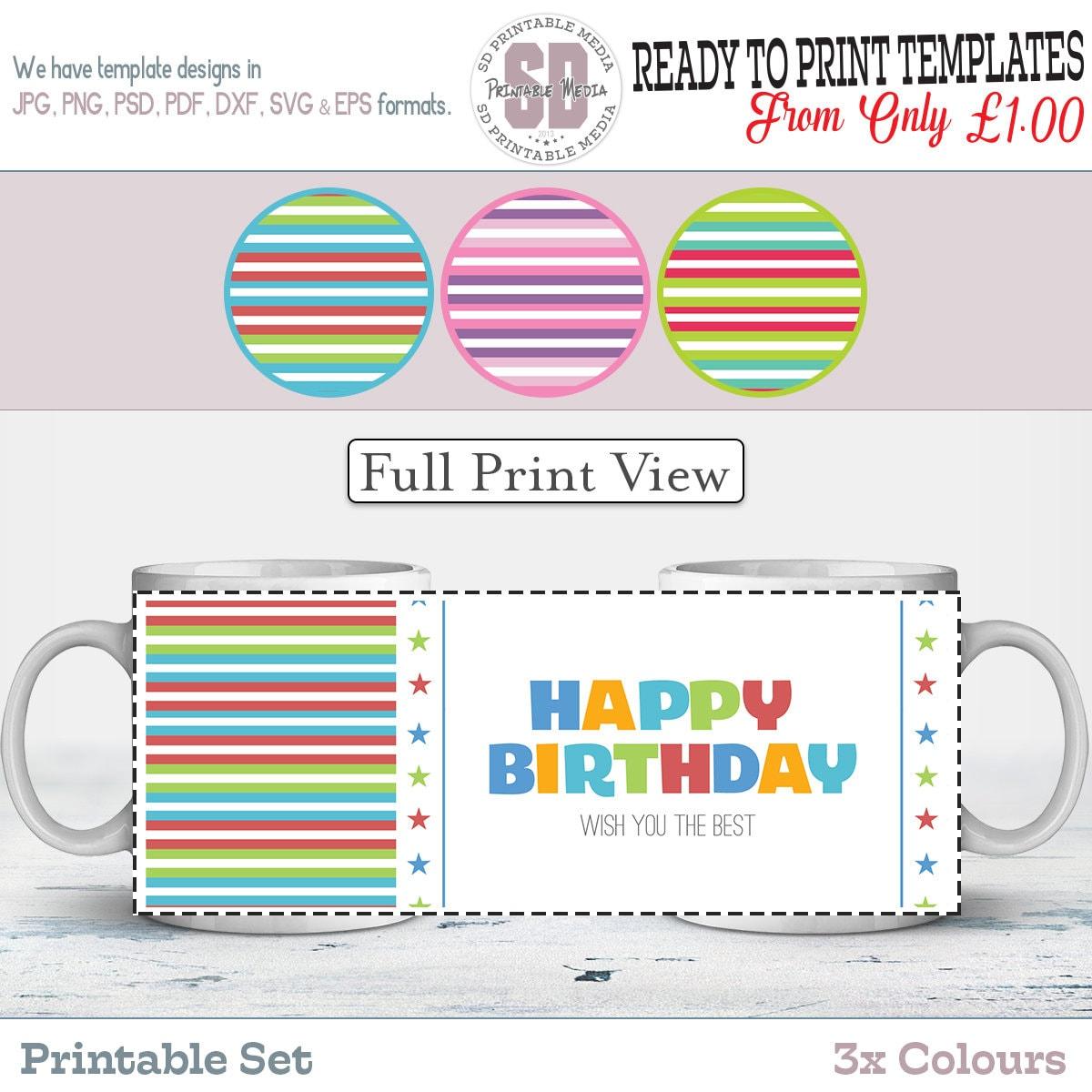 Birthday Sublimation Mug Design Birthday Mug Design Template