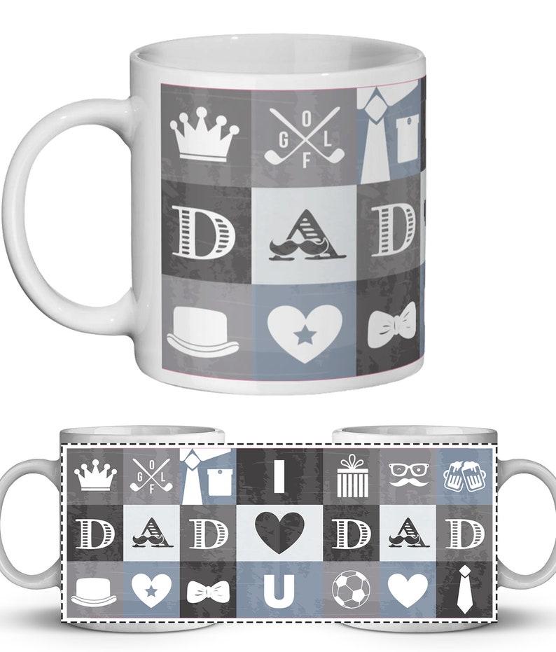 Dad Printable Sublimation Mug Design Dad Mug Templates 4x Dad Digital Mug Designs Printable Father/'s Day Mug Transfer Designs