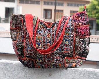 853f250bce88 vintage Banjara bag tribal zari Indian handwork embroidery women shoulder purse  Antique
