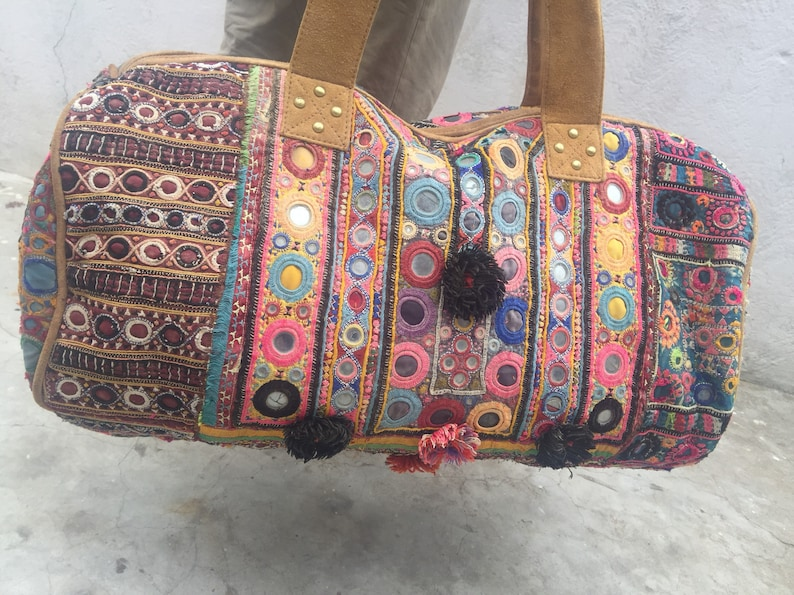 01dc10ea51 Banjara Duffel Bag Indian Handmade leather Gypsy bohemian