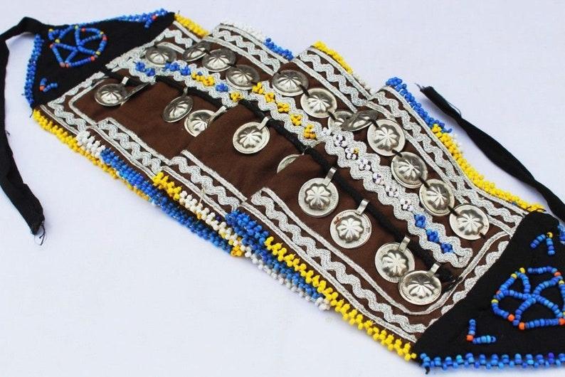 Indian Handcrafted Antique Belt,Afghani Belly Dance Belt,Tribal Banjara Belt,Hand embroidered Waist Belt 1960s Ba43