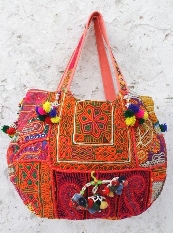 51f73e3996 Tribal banjara bag hobo vinatge embroidered shoulder Tote