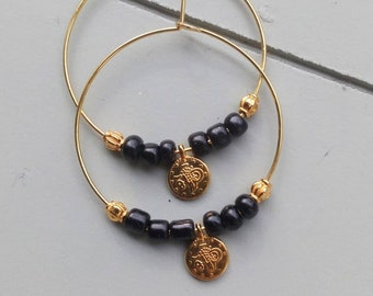 Black and Gold earings