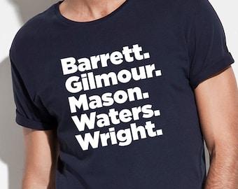410d0112a6e09c Pink Floyd Gifts, Pink Floyd T shirt, Band Members Shirt, David Gilmour  Shirt, Rock Bands Shirts, 70's Rock Shirts, Iconic Rock Tees