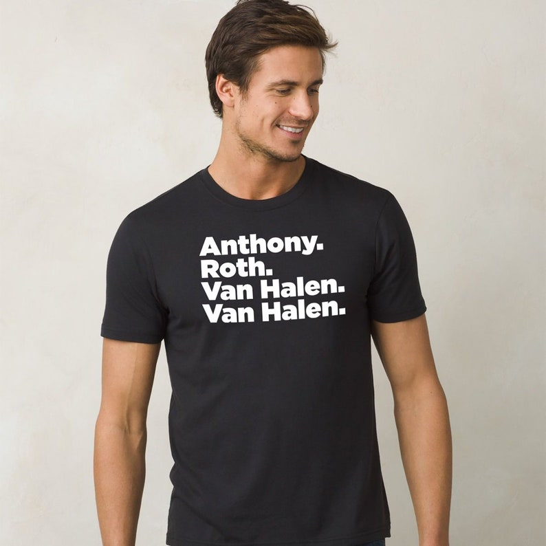 de31f39e4 Mens Van Halen Shirt Classic Rock Gifts David Lee Roth Band | Etsy