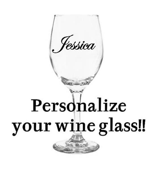 personalized wine glass etsy