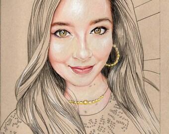 Custom Drawn Pencil Portrait