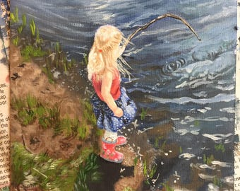 Custom mini portrait painting