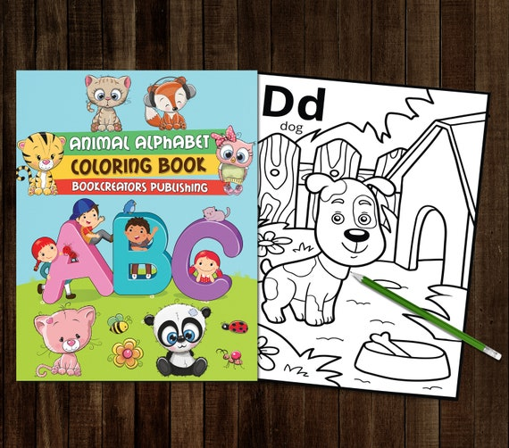 - Printable Alphabet Coloring Book A-Z 36 PDF Coloring Pages Etsy