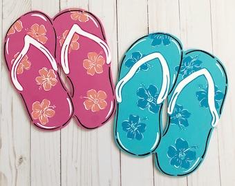 4ebddc63def7 Flip flop beach sign
