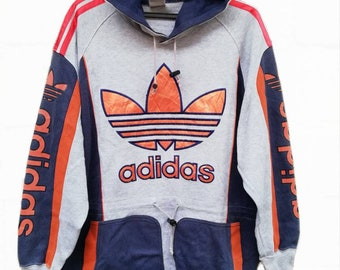 Adidas sweatshirts hoodies grey black men's large size adidas originals