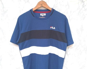 c0f0fcced75d Vintage Fila Colour Block Tee Size M - Free Shipping Worldwide
