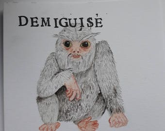 Harry Potter Watercolour - Demiguise (Fantastic Beasts and Where To Find Them)