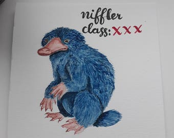 Harry Potter Watercolour - Niffler (Fantastic Beasts and Where To Find Them)