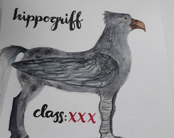 Harry Potter Watercolour - Hippogriff (Fantastic Beasts and Where To Find Them)