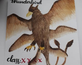 Harry Potter Watercolour - Thunderbird (Fantastic Beasts and Where To Find Them)
