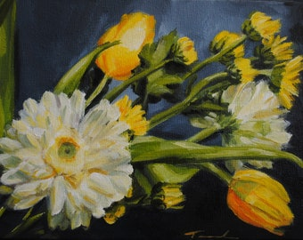 Spring Sunrise - Floral Oil Painting