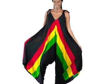 NEW ARRIVAL Rasta Colour Reggae Fish Mesh Hollow Out Pants set .2 SIZE/'S