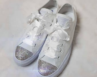 726df3991fe9 Swarovski Crystal All Star chucks converse BLING wedding sneakers shoes