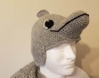 Crochet Dolphin Hat for kids or adults - hand crocheted b5743d013