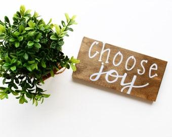 Choose Joy Mini-Sign