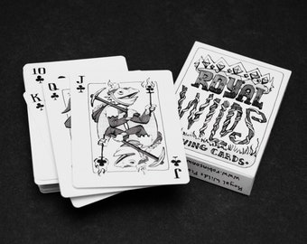 Royal Wilds Illustrated Playing Cards - Poker Cards - Deck of Cards - Unique Gift