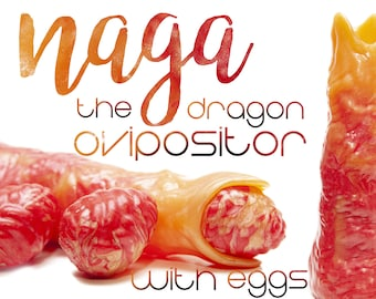 Naga The Dragon Ovipositor With Eggs - Ovipositor with Alien Eggs - Kegel Eggs - Silicone Eggs - Squishy Eggs - Vaginal Eggs