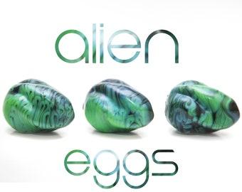 Alien Eggs (Set of 3) - Kegel Eggs - Silicone Eggs - Squishy Eggs - Ovipositor - Vaginal Eggs