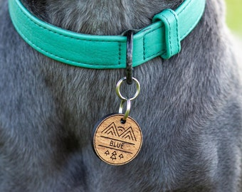 Forest Bound personalized dog tag, dog tag for dogs, Dog Birthday