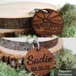 Wooden Pet ID Tag | Beach Dog Tag |  Personalized | Pet ID Tag | Personalized Dog Tag | Custom Dog Tag Wooden Dog Tag, Pet Tag