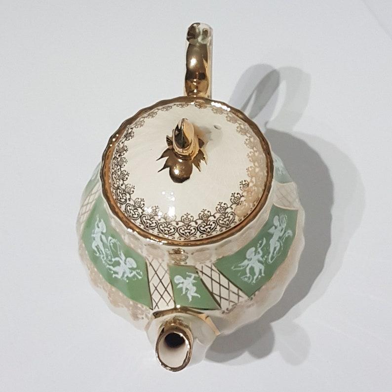 1960/'s Pattern 3392 Cupid Wedding Decor Vintage Sadler Teapot with Cherubs Angel Teapot