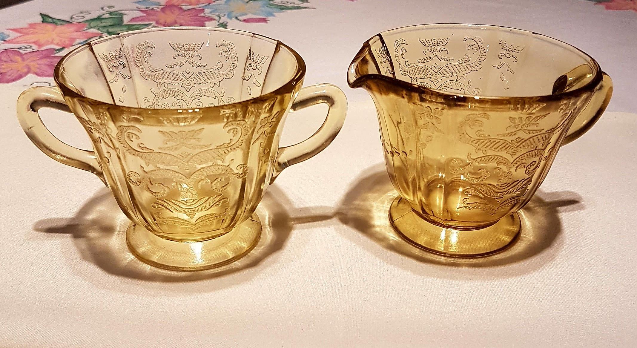 Amber Depression Glass Patterns Interesting Decoration