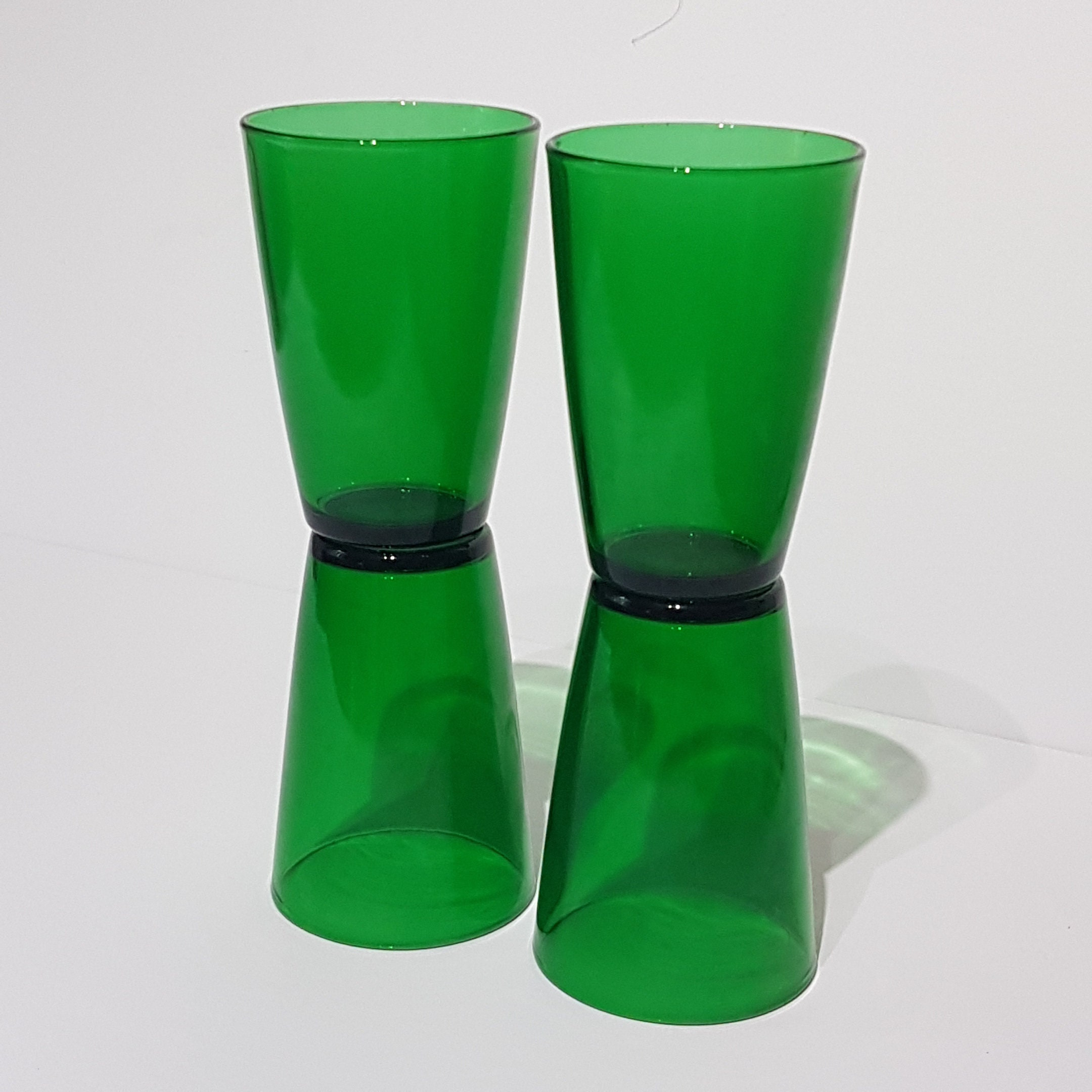 Forest Green Kitchen: Set Of 4 Forest Green Anchor Hocking 8oz Juice Tumblers
